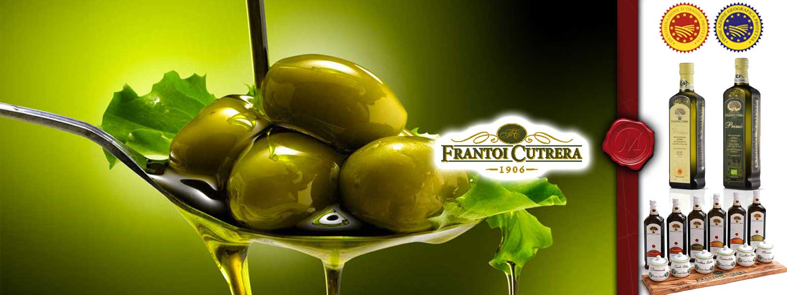Olive oil from Frantoi Cutrera