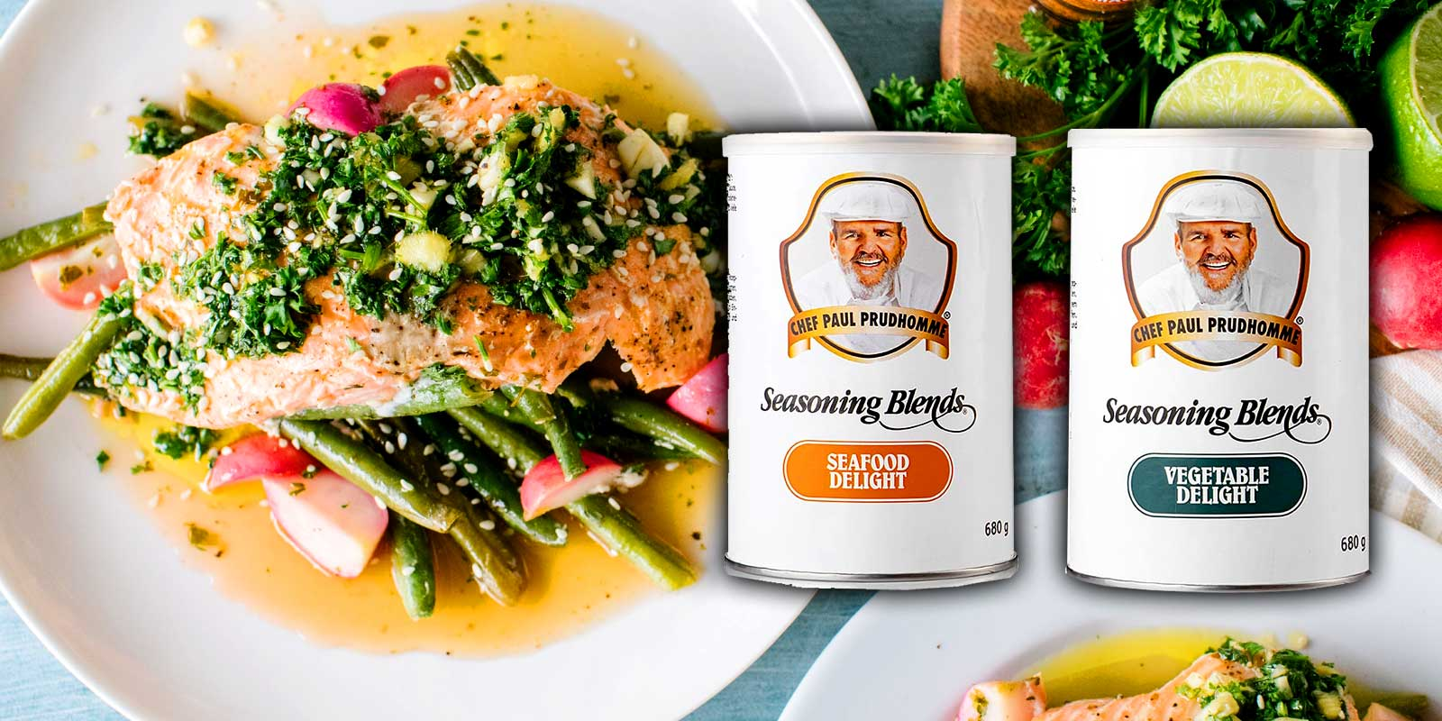Paul Prudhomme spices Chef Paul Prudhommes seasoning blends: barbecue, steak, pizza and pasta, meat, poultry, veal and pork and other spices.   All spices are without preservatives and without glutamate.