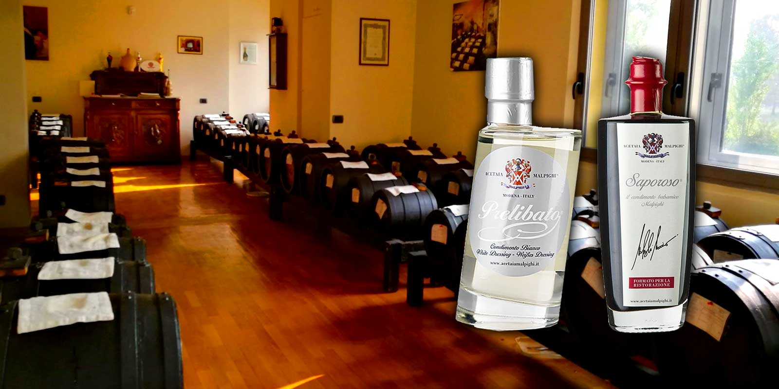 Vinegar - Balsamic Vinegar of Malpighi For more than 200 years the Fa. Malpighi produces high Acetos. Only exceptionally excellent one can expect from the company. Malpighi in Modena, Italy.