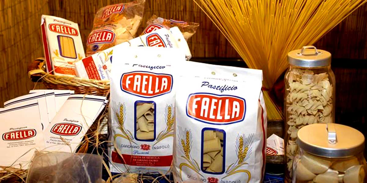 Pasta Faella from Italy (Campania) Pastificio Faella only uses 100% Italian wheat, which is selected and grown in the vastness of Puglia.