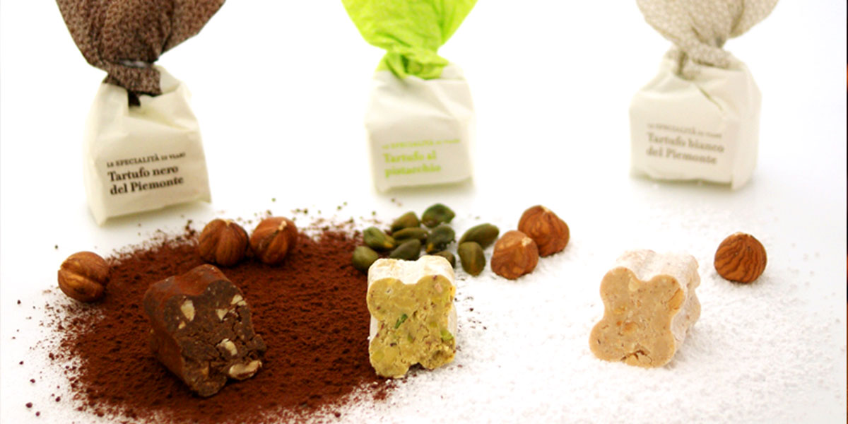 Truffles Tartufi dolci, Le Specialita di Viani The delicious chocolate truffles in white, dark, with pistachio, chocolate etc.   Also available in a gift box.