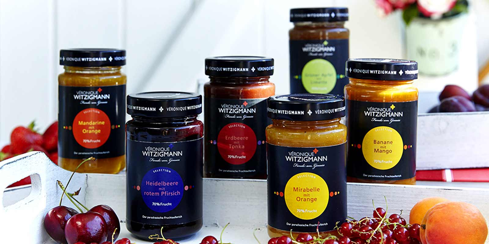 Veronique Witzigmann Jams, chutneys and pesto Delicious fruit spreads, chutneys and pesto in many flavors of Veronique Witzigmann.