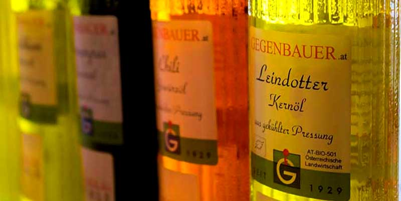 Oils of Gegenbauer - Vienna Oil Mill The name Gegenbauer is vinegar production in the third generation. Todays philosophy with passion u. Fascination of Erwin M. Gegenbauer represented opposes a uniformity of taste and towards individuality.
