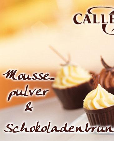 Moussepulver und Krokant von Callebaut