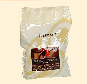 Callebaut Bitterschokolade, als Callets f�r Brunnen und Fondue