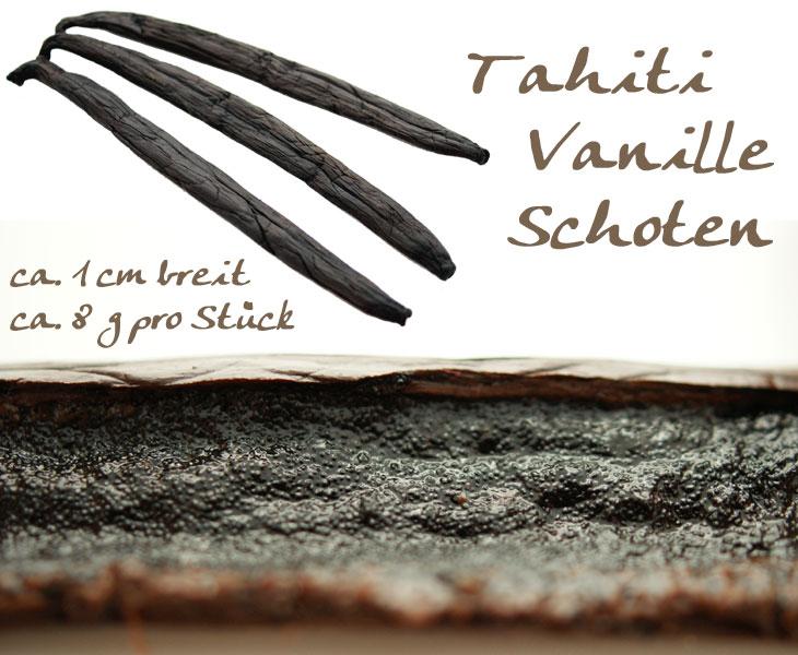Tahiti Vanille-Schoten, die Königin der Vanille, 3 Schoten