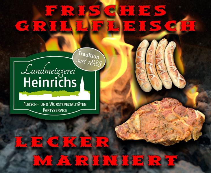 Grillfleisch der Landmetzgerei Heinrichs