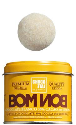 Bombon White Chocolate 30%Cocoa Lemon-Cinnamon Bio, Wei�e Schokoladekugeln 30 % Kakao Zitrone-Zimt, Chocolate Organiko