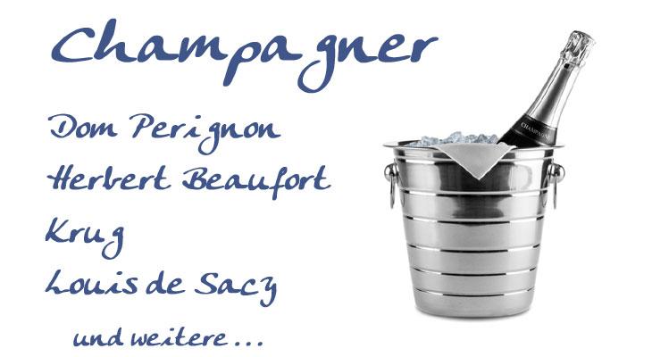 Champagner, Dom Perignon, Herbert Beaufort, Krug, Louis de Sacy