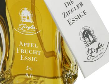 Ziegler Apfel Fruchtessig, im Zerstäuber, 5% Säure - 100 ml - Flasche