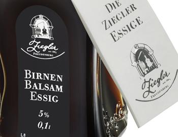 Ziegler Birnen Balsamessig, im Zerstäuber, 5% Säure - 100 ml - Flasche