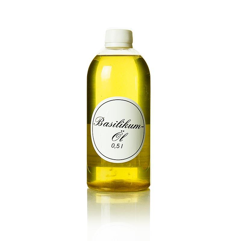 Basilikumöl - Rapsöl mit Basilikum - 500 ml - Flasche