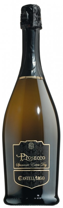 Weiß, Charmatmethode, Prosecco DOC Spumante extra dry, Castellargo - 0,75 l - Flasche