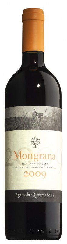 Rot, Stahl, Rosso Maremma Toscana IGT Mongrana, biologico, Agricola Querciabella - 0,75 l - Flasche