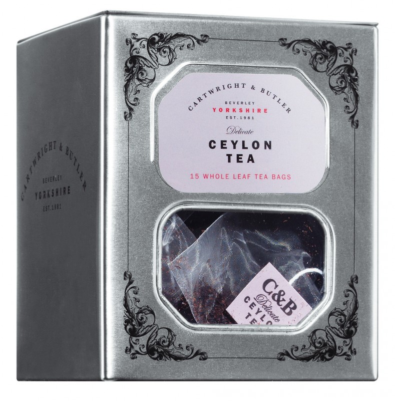 Cylon Tee, Dose, Cylon Tea, tin, Cartwright & Butler - 15 x 3 g - Dose