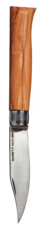 Klinge 9 cm, Messer mit Olivenholzgriff Piemontese, Coltelleria Marietti - 19 x 2 cm - Stück