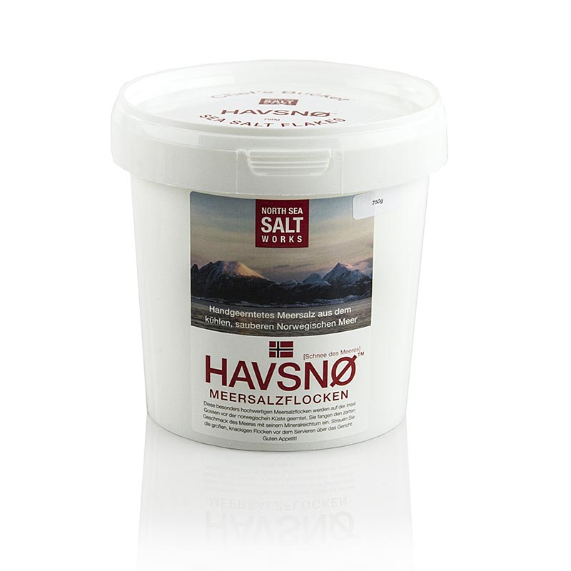 North Sea Salt Works, HAVSNØ Meersalzflocken, aus Norwegen - 750 g - Pe-eimer