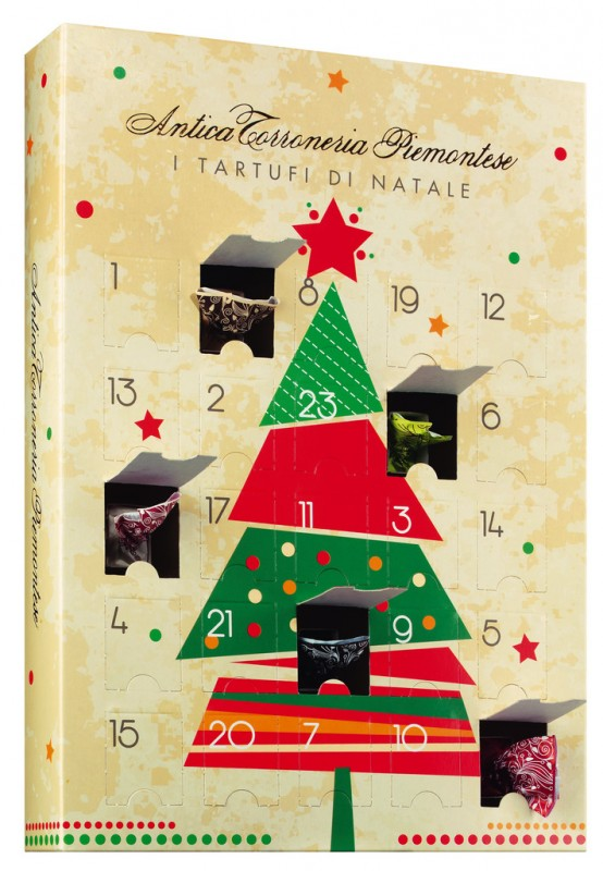 Adventskalender Mit Gemischten Tartufini Dolci, Calendario Dell Avvento,  Tartufini Misti, Antica Torroneria Piemontese