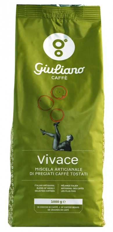 Vivace in grani, Kaffeebohnen, Giuliano - 1.000 g - Packung