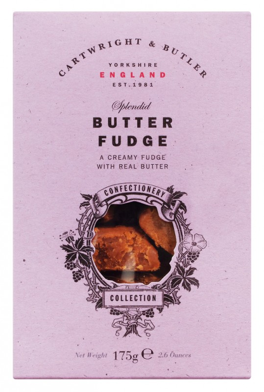 Butter Fudge in carton, Weichkaramell mit Butter, Cartwright & Butler - 175 g - Packung