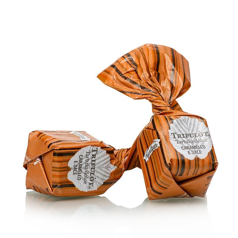 Mini Trüffelpralinen von Tartuflanghe - Dolce dAlba CARAMELLO & SALE, Karamell / Guerande-Salz,ca. 7g - 200 g - Beutel