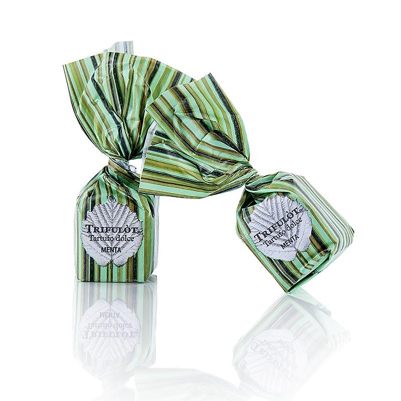 Mini Trüffelpralinen von Tartuflanghe - Dolce dAlba MENTA, mit Piemonteser Minze, ca. 7g, grün - 1 kg - Beutel