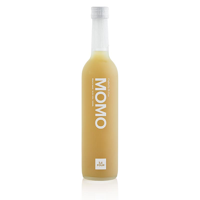 Mixed drink of peach juice (Momo) and Ile Four Sake, 12.5% Vol. - 500 ml - bottle