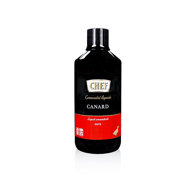 CHEF Premium concentrate - Entenfond, liquid, for approx. 6 liters - 1 l - Pe-bottle