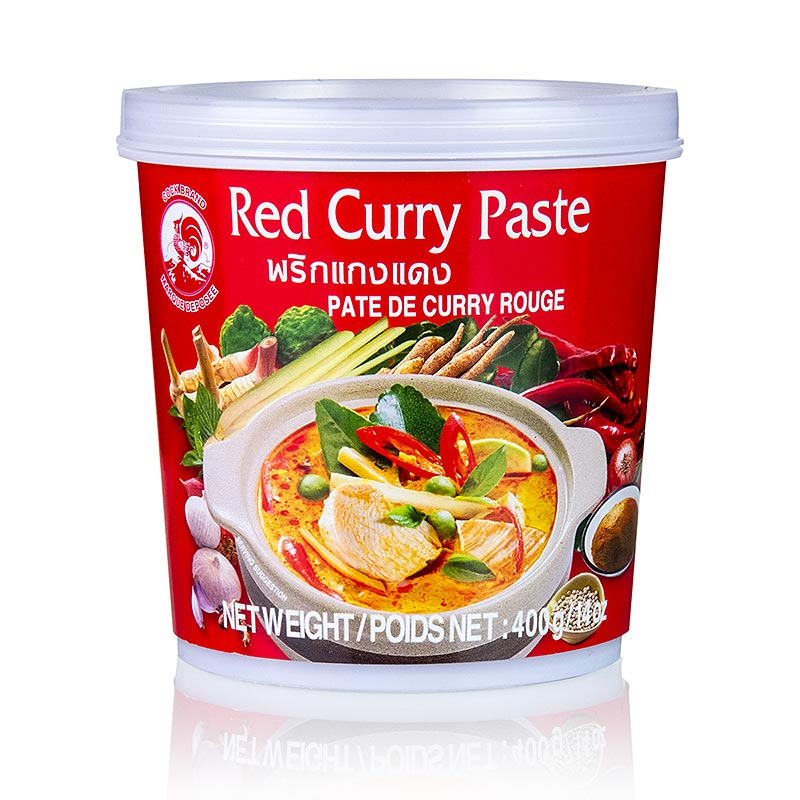 Curry Paste, rot, Cock Brand - 400 g - Becher