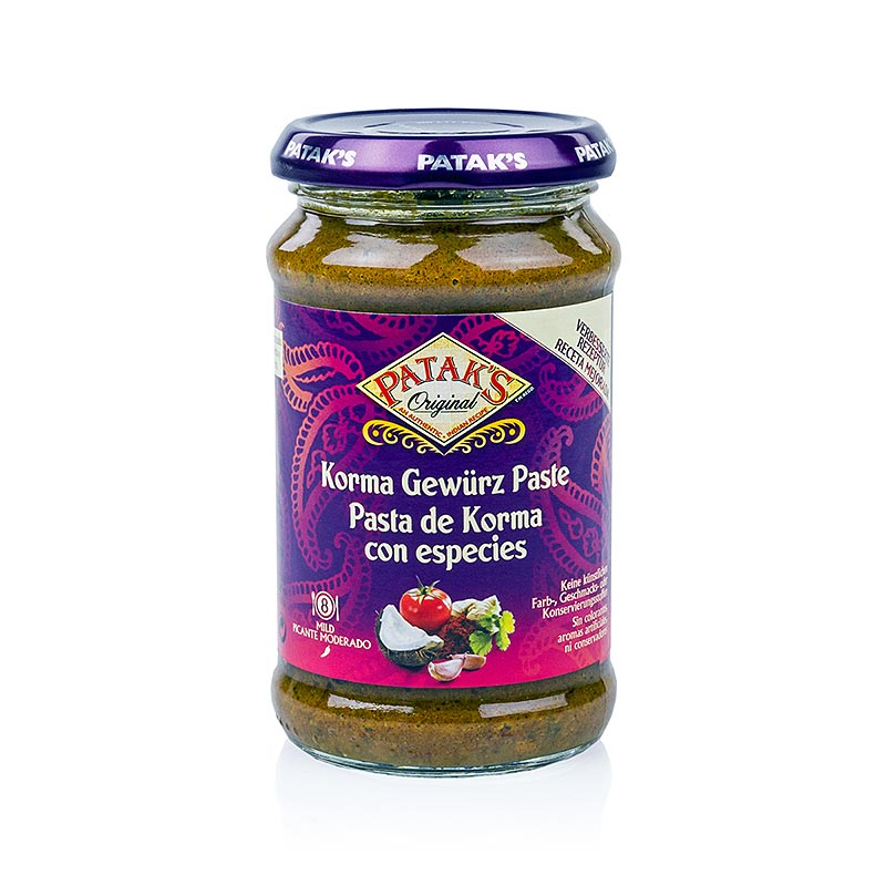 Curry Paste Korma, mild, Patak`s - 290 g - Glas