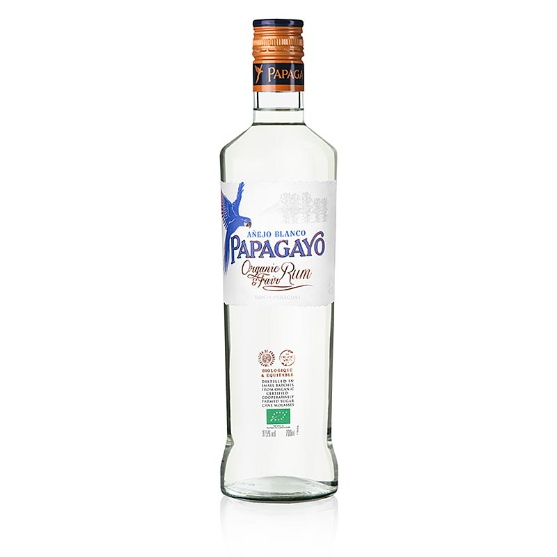 Papagayo Organic White Rum, 37,5% vol., BIO - 700 ml - Flasche