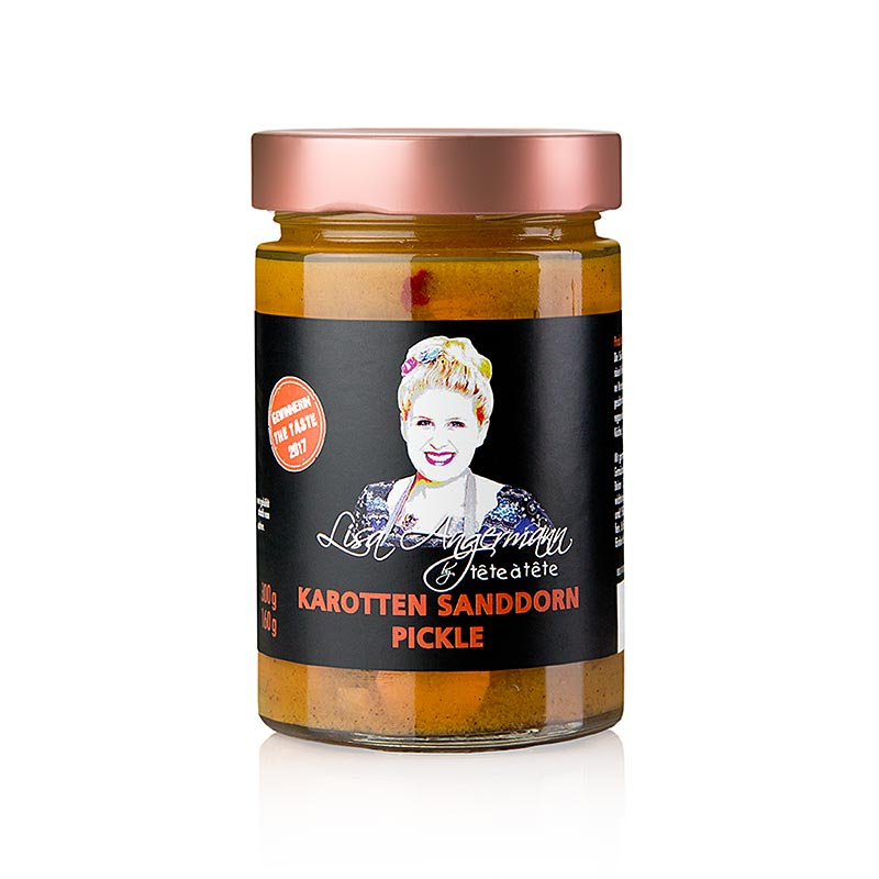 Carrots - Sea Buckthorn Pickle, by Lisa Angermann - 300 g - Glass
