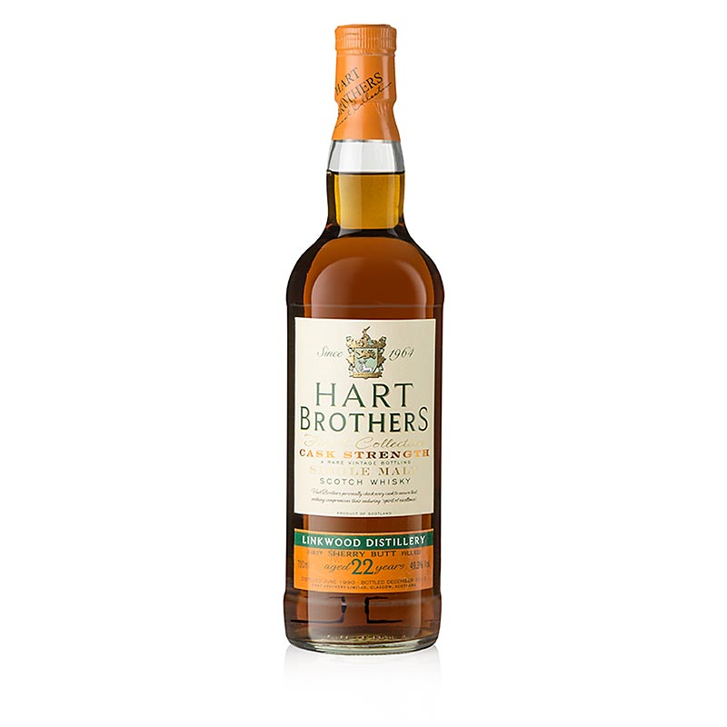 Single Malt Whisky Linkwood 1990 Hart Brothers, 22 J., 49,3% vol., Speyside - 700 ml - Flasche