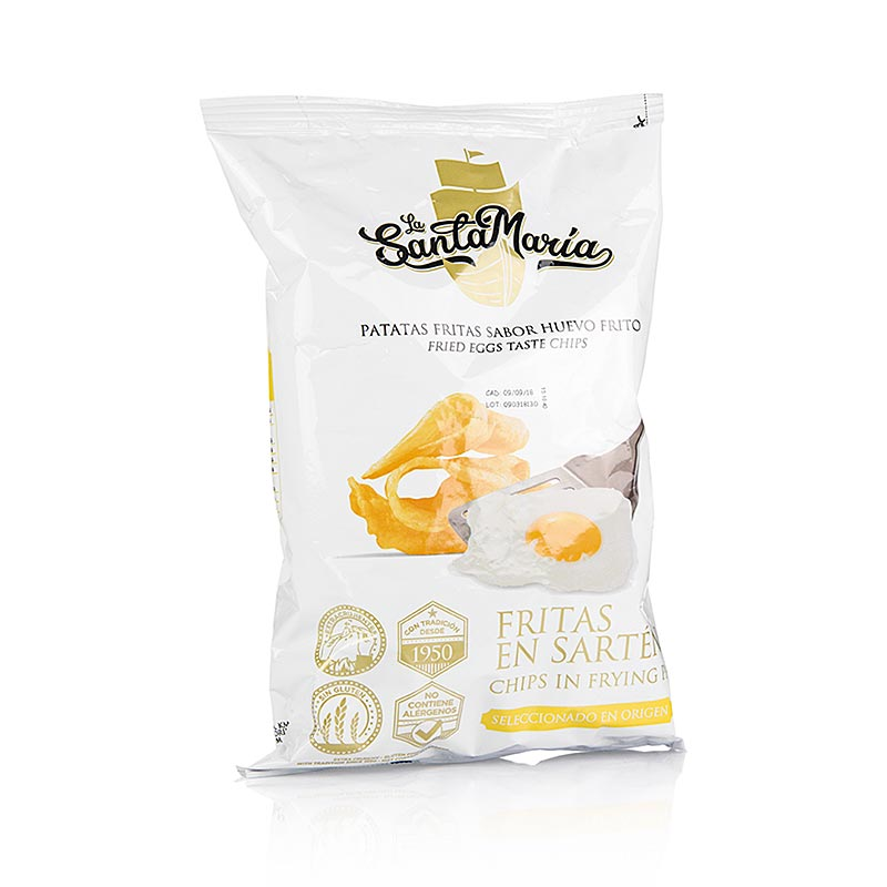 Potato Chips With Fried Egg Flavor La Santamaria 130 G Bag