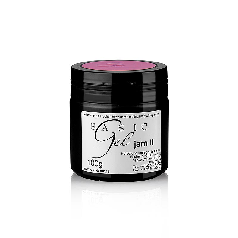 Basic Gel - for jam 2, Pink, vegan, Herbacuisine - 100 g - Pe-dose
