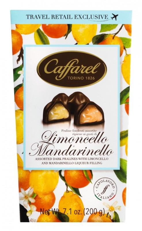 Limoncello and Mandarinello Cornet Ballotin, Limoncello und Mandarinello Pralinen, Packung, Caffarel - 200 g - Packung