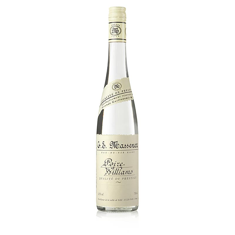 Massenez Eau-de-Vie Poire Williams Prestige, Williams pear, 43% vol., Alsace - 700 ml - bottle