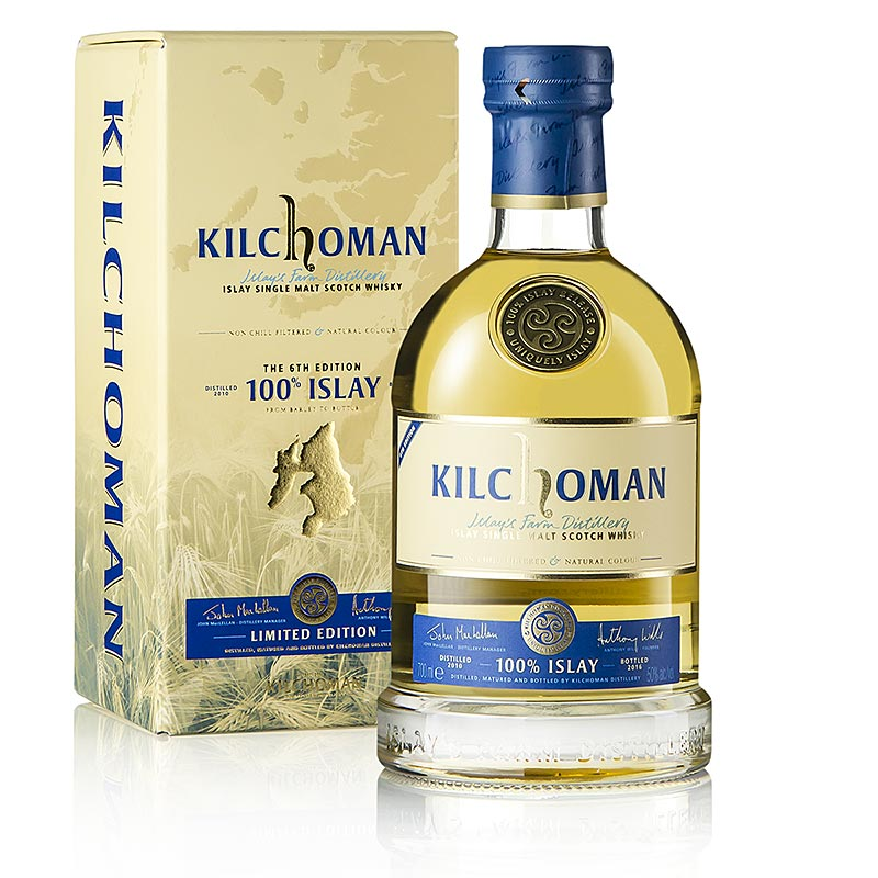 Single Malt Whisky Kilchoman, 100% Islay, 6th Edition, 50% vol., Schottland - 700 ml - Flasche