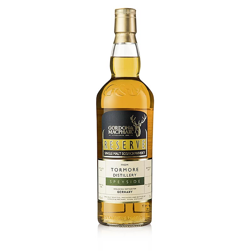 Single Malt Whisky Tormore 1995 Gordon & Mc Phail, 21 J., 46% vol., Speyside - 700 ml - Flasche
