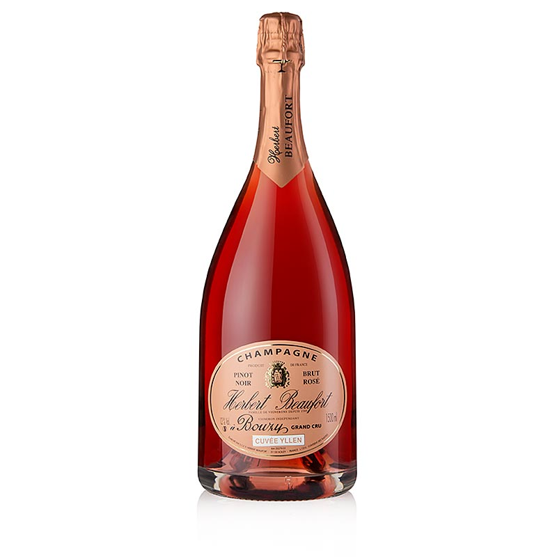 Champagner Herbert Beaufort Rose Grand Cru, brut, 12% vol., Magnum - 1,5 l - Flasche