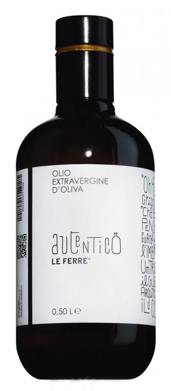 Autentico Olio extra vergine, Natives Olivenöl extra, Le Ferre - 500 ml - Flasche