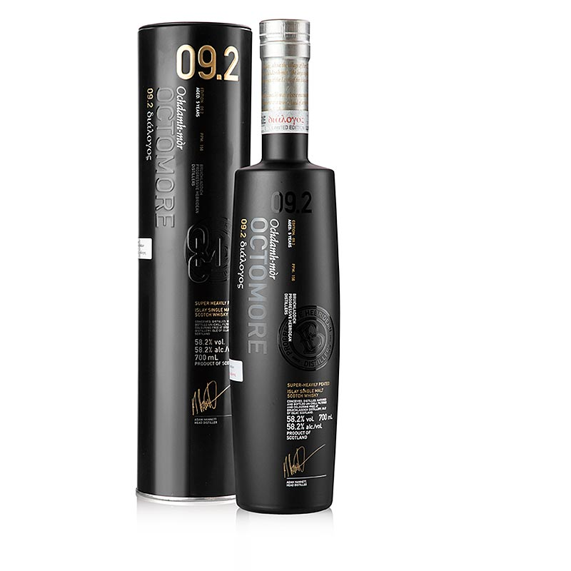 Single Malt Whisky Bruichladdich Octomore 09.2., 58,2% vol., Islay - 700 ml - Flasche