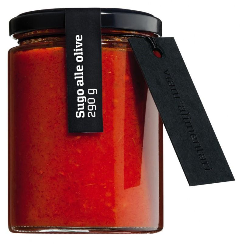 tomatensauce mit oliven sugo alle olive viani alimentari 314 ml glas. Black Bedroom Furniture Sets. Home Design Ideas