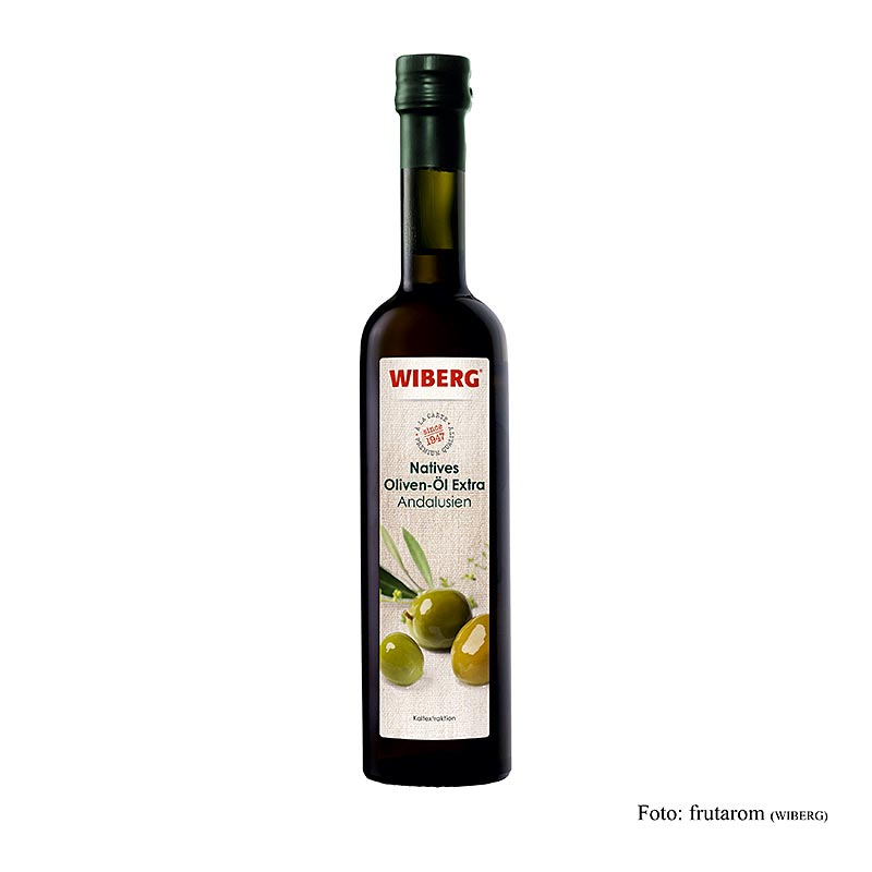 Wiberg Natives Olivenöl Extra, Kaltextration, Andalusien - 500 ml - Flasche