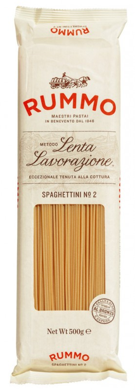 Spaghettini, Le Classiche, Hartweizengrießnudeln, Rummo - 24 x 500 g - Packung