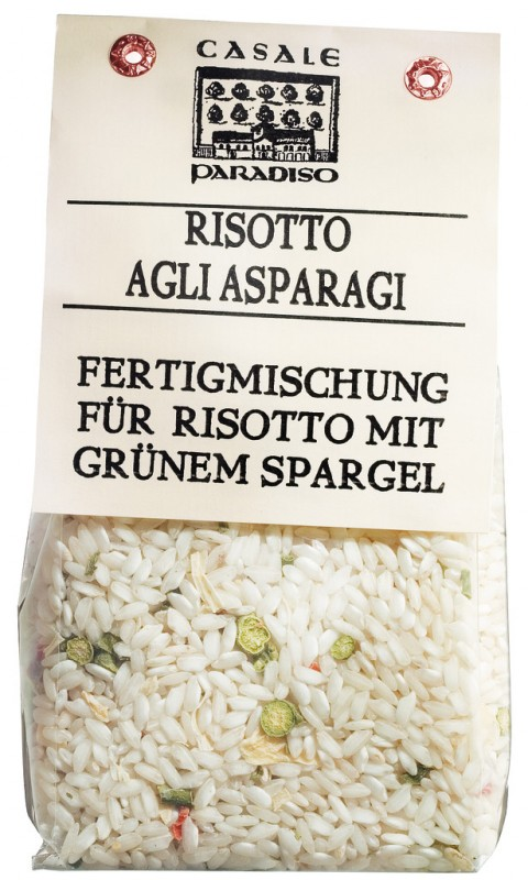 Risotto agli asparagi, Risotto mit grünem Spargel, Casale Paradiso - 300 g - Packung