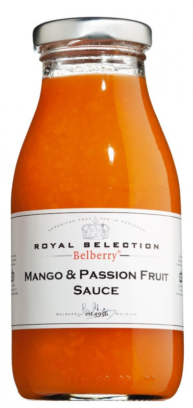 Mango & Maracuja Fruchtsauce, Mango & Passion Fruit Sauce Belberry, Belberry - 250 ml - Glas