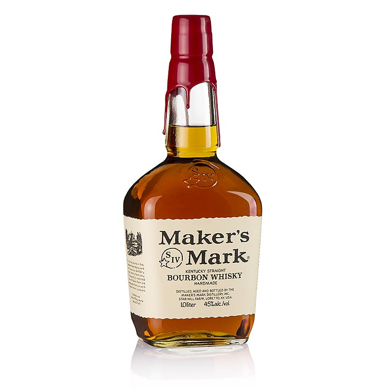Bourbon Whisky Maker`s Mark, Kentucky Straight Bourbon, 45% vol. - 1 l - Flasche