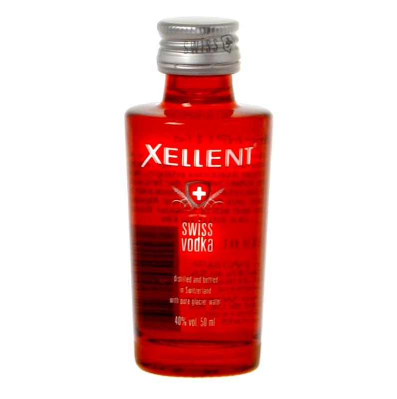 Xellent Vodka, 40% vol., Schweiz - 50 ml - Flasche