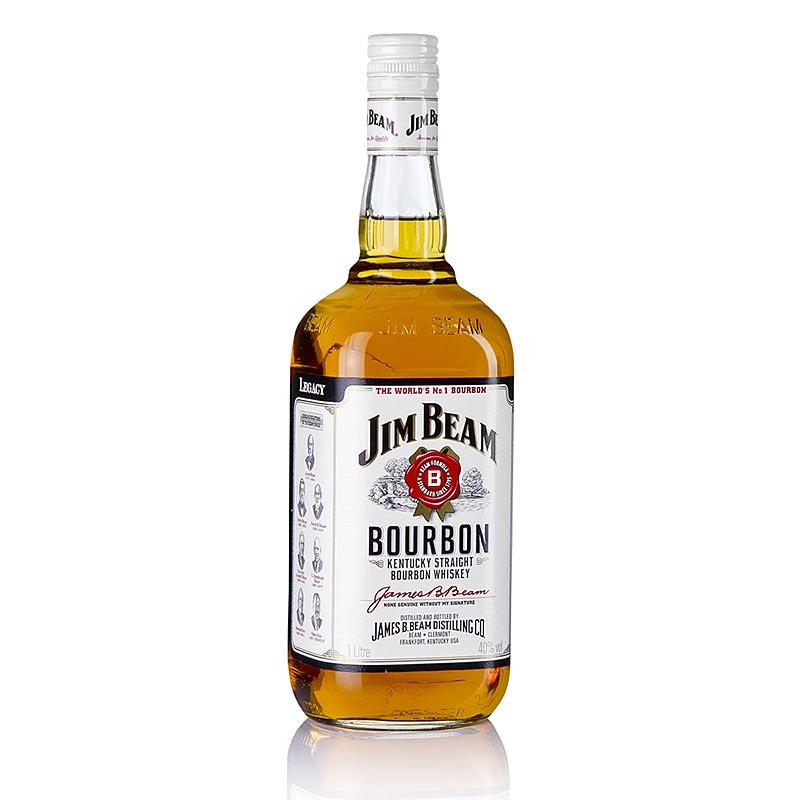bourbon whisky jim beam 40 vol usa 1 l flasche. Black Bedroom Furniture Sets. Home Design Ideas